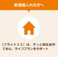 住宅ローン新規借入れの方へ 【フラット35】は、ずっと固定金利で安心、ライフプランをサポート